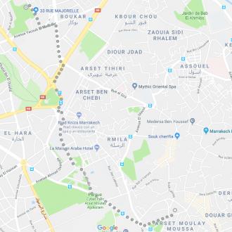 Mapa Jardines Majorelle