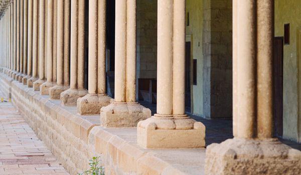 columnas del monasterio de pedralbes